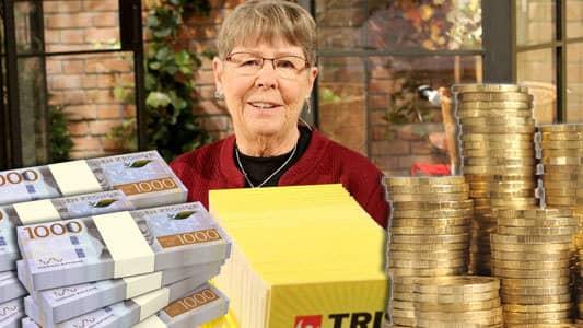 Lotteriskatt en kvinna - 3380