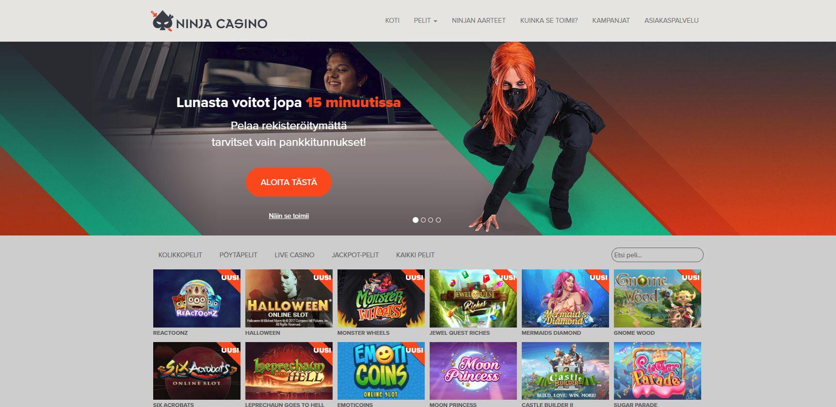 Bästa casinobonus Ninja - 82142
