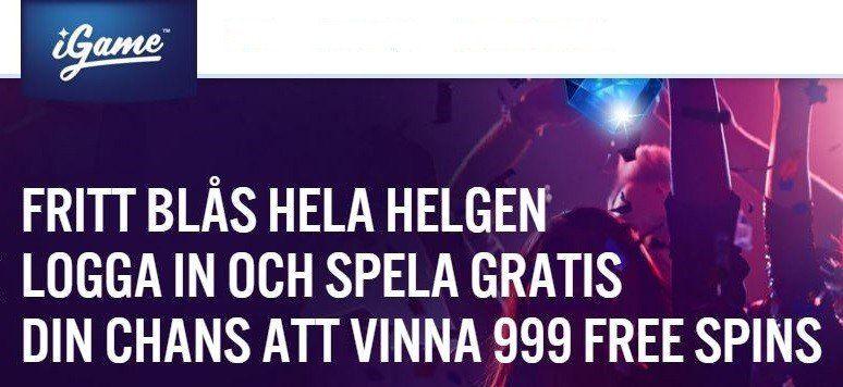 Få free spins - 18541