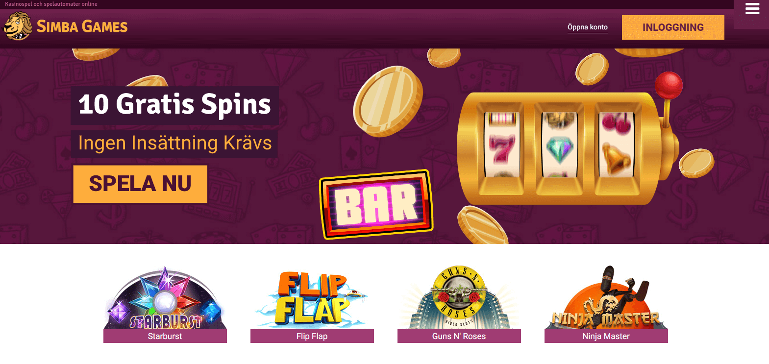 Gratis Casino Bonus Utan Insattning
