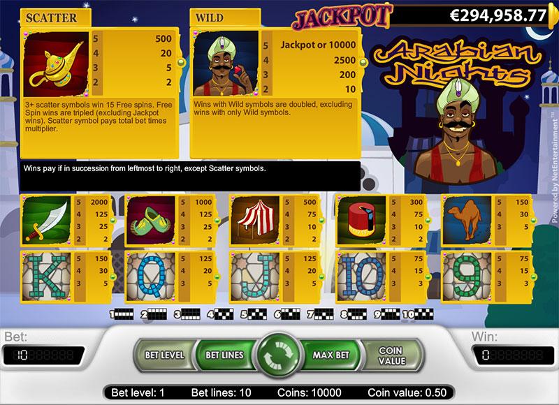 Arabian nights slot - 82582