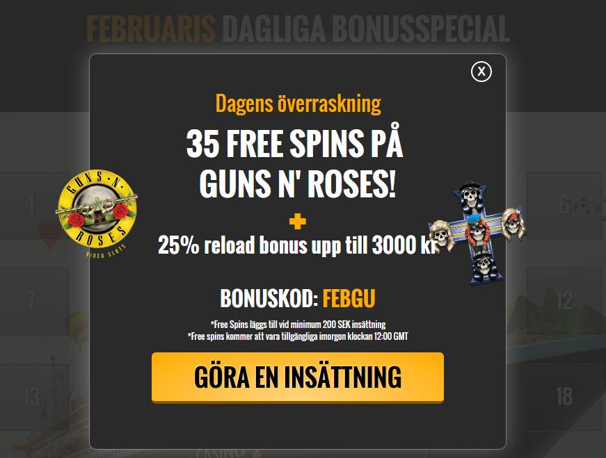 Bonuskod free spins - 22894