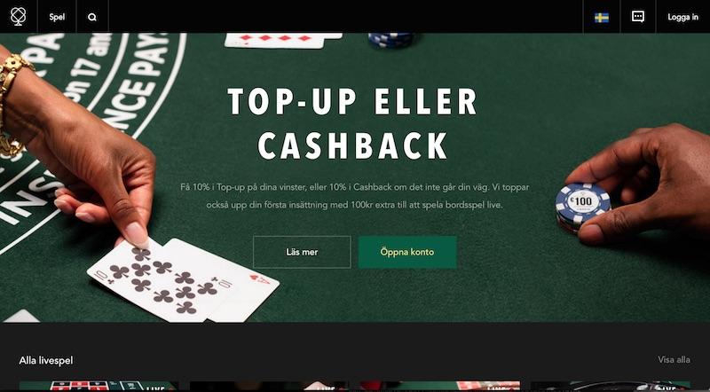 Cashback på casino - 64477