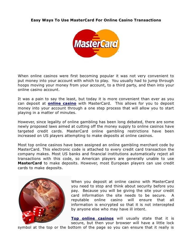 Mastercard casino - 14415