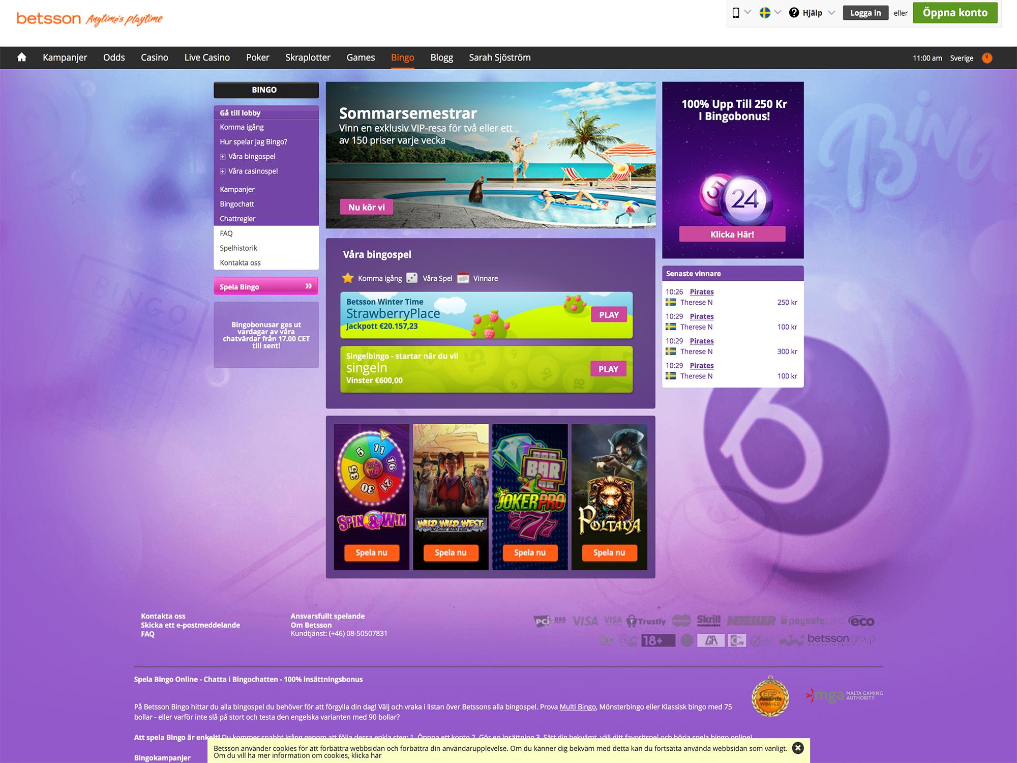 Spelkassa casinospel Betsson - 39557