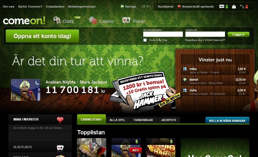 Svensk kundtjänst ComeOn - 56230